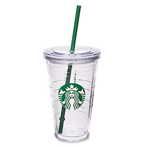 Starbucks Vaso aislante acrílico transparente de 16 onzas (taza grande para llevar)