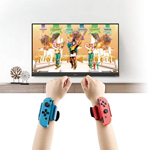 N/C Wrist Bands for Nintendo Switch Controller Game Just Dance 2020, 2 Pack Adjustable Elastic Strap for Controller,Leg Band is Suitable for Switch Ring Fit Adventure