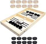 moopok Fast Sling Puck Game,Slingshot Games Toy,Table Desktop Battle 2 in 1 Ice Hockey Game, Winner Board...