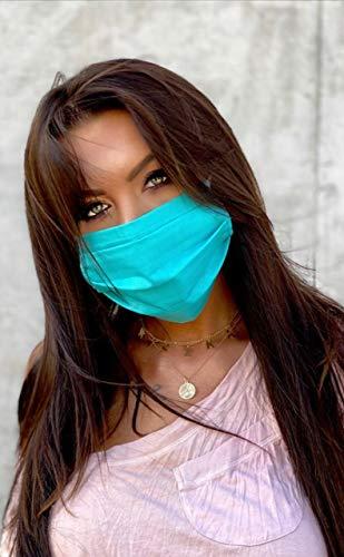 Maschera per il viso, delicata sulla pelle, 100% cotone, unisex, riutilizzabile e lavabile, per corsa, attività all'aria aperta, fabbricata in UE