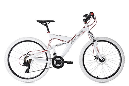 KS Cycling Topspin VTT Tout Suspendu Mixte Adulte, Blanc