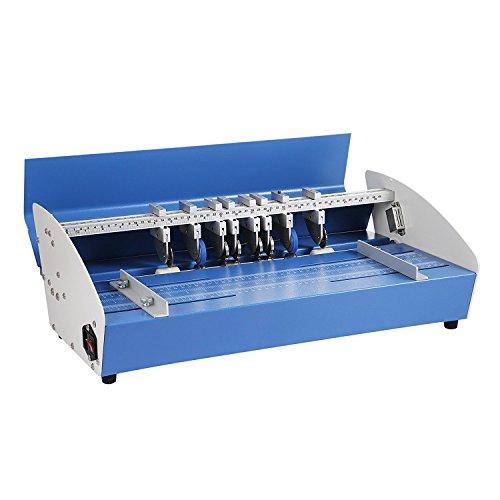 Anhon Rillmaschine 20,5 Zoll 520 mm Heavy Duty Metall Creaser Scorer 3 in1 elektrische Papier Creaser für Papier Card Book Scoring (20,5 Zoll 520 mm)