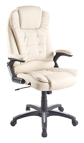 Elitech PU Leather Ergonomic Office Executive Chair with Recliner Function