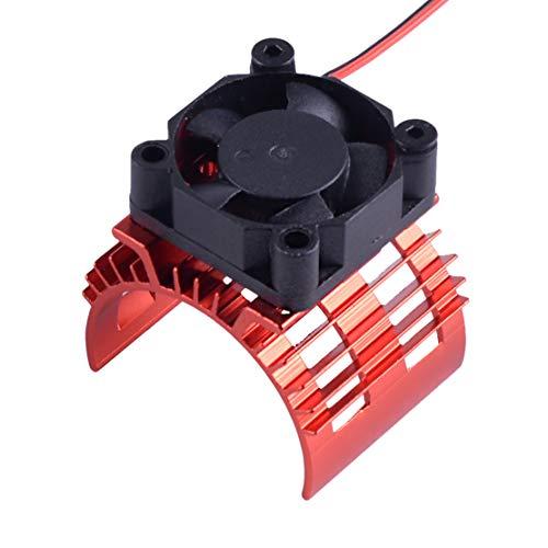 Eastar Rot 36mm Motorkühlkörper mit Lüfter für 1/10 HSP RC Car 540/550 3650 Motor