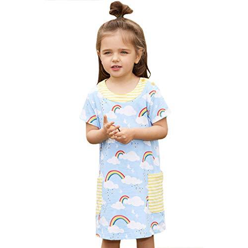 Luckycat Ropa de Niña, Sling Vestidos Arcoiris Verano Vestidos Niñas Vestido de Fiesta de Princesa Tutu Vestidos Niñas Vestido de Fiesta Cumpleaños para Niña