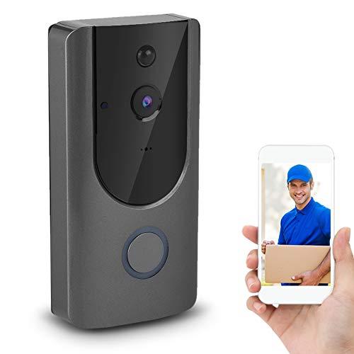 Videocitofono, 720P HD WIFI Smart Security Camera con visione notturna IR IR-Cut Rilevazione movimento PIR Obiettivo grandangolare 166 gradi Controllo allarme Controllo APP per Android IOS
