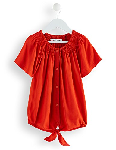 Amazon-Marke: RED WAGON Mädchen Bluse mit Knoten, Orange (Pureed Pumkin), 140, Label:10 Years