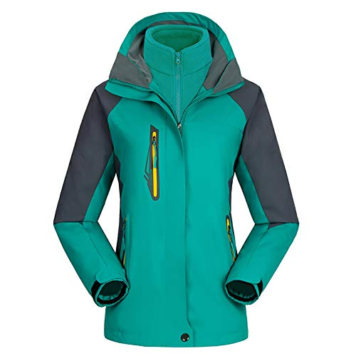 Uinta Outerwear Mountain Ski Jacket | Best Women's Coat for Waterproof, Windproof, Two-Layer Warmth in Snow or Rain (Turquoise, XXL)