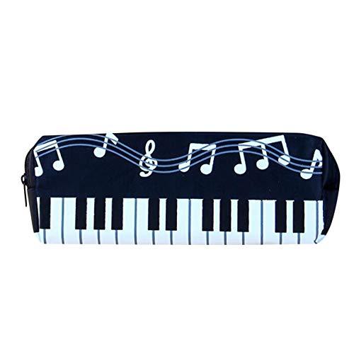 PXSTYLE Reißverschluss-Stifttasche Music Theme Keyboard Style Wasserdichtes Federmäppchen