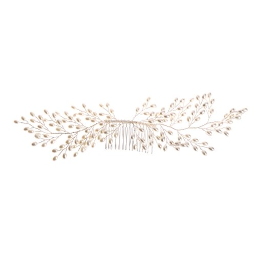 NUEEUDD Mariage Fausse Perle De Mariage Filles Diadème Coiffe Bandeau Peigne De Cheveux Bijoux Partie