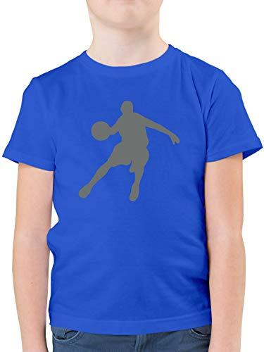 Sport Kind - Basketballspieler - 164 (14/15 Jahre) - Royalblau - Sport kinde Basketball Spieler Jungen Kinder t Shirt - F130K - Kinder Tshirts und T-Shirt für Jungen