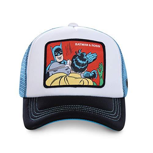 DC Comics Herren Trucker Cap Batman Robin Superhelden Meme Druck 1er Pack Schwarz Grau Blau, Farbe:Motiv 2 (CL/DC2/1/MEM4)