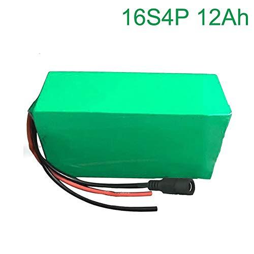 Seilylanka 60V 12Ah 16S4P Batteria agli ioni di Litio elettrica Due Bici da Bicicletta a Tre Ruote ebike 255 * 100 * 70mm