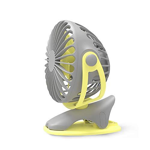 WUIO Clip USB-ventilator, compact, draagbaar 360 graden draaibaar, handbureau, miniventilator, zomer-rustig thuis, tafel, salon, kantoor, bibliotheek