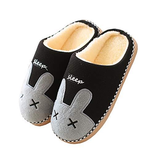 Cliont Zapatillas de Gato Lindo Zapatillas de Invierno de Interior Zapatos Antideslizantes...