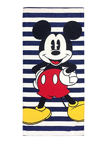 Mickey Mouse Navy Stripes Cotton Bath Towel