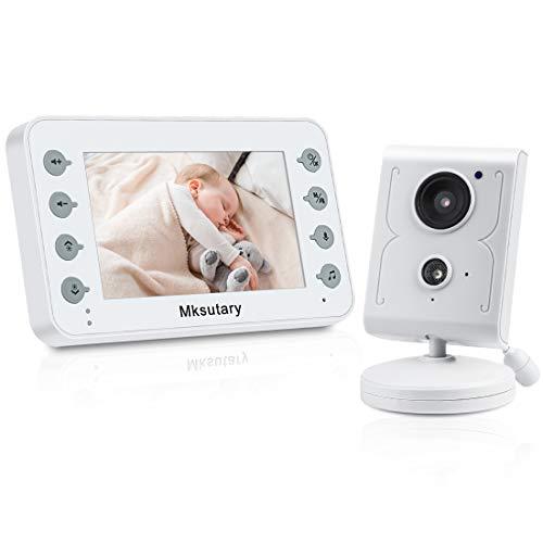 Vigilabebés,Camara Vigilancia Bebe 4.3 '', Vigilabebés Inalambrico Bebé Monitor Inteligente, con Cámara y Audio, Visión Nocturna, con Monitor de Temperatura, Charla Bidireccional