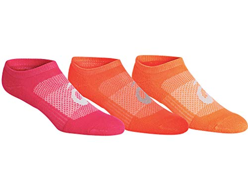 ASICS Women's Invasion No Show (6 Pack) Training Accessories, M, PINK RAVE