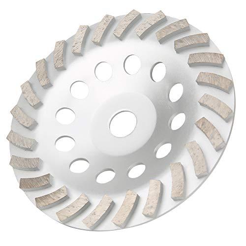 Copa abrasiva para piso, copa abrasiva de diamante, muela abrasiva de 175 mm, rueda de copa abrasiva diamantada de 175 mm para hormigón, mármol, baldosas de cerámica, granito