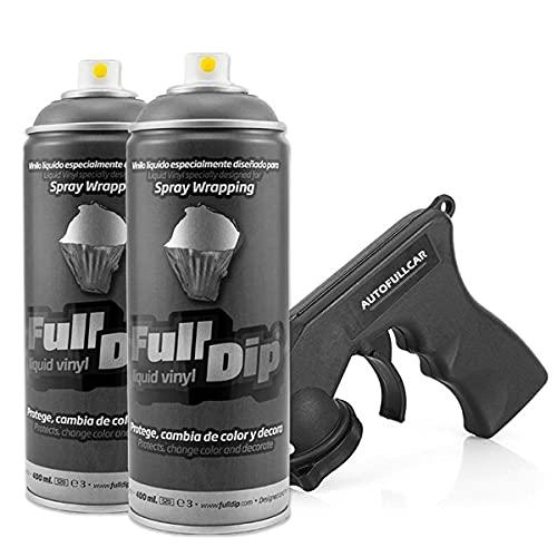 AutoFullCar Full Dip Pack 2 Spray Colores FULLDIP - TiendaFullDip.com (Antracita Metalizado)