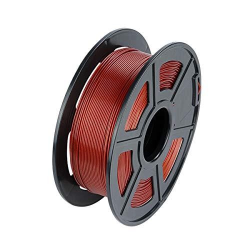 VOM Filament-3D-Druckmaterialien 1,75mm +/- 0,02 mm, PLA Filament 1kg 3D Drucker Filament für 3D Drucker/ 3D Stift, Verwicklung frei/Vakuumverpackung, 4 Farben (Braun)
