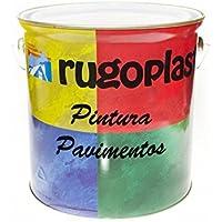 Pintura monocomponente para suelos y garajes (hormigón, morteros de cemento y derivados) al clorocaucho alta dureza varios colores (0,750Ml, Gris) Envío GRATIS