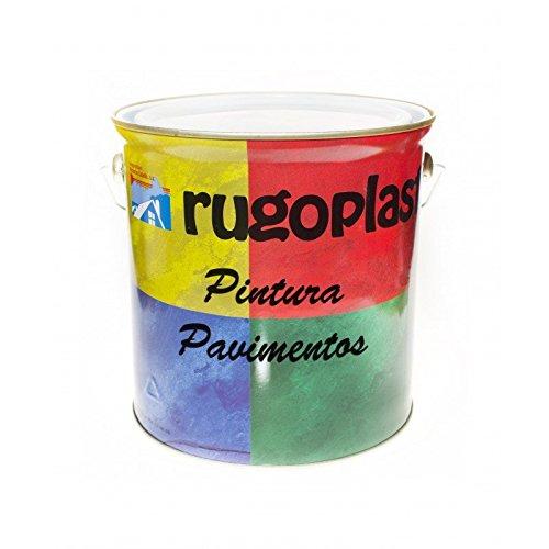 Pintura monocomponente para suelos y garajes (hormigón, morteros de cemento y derivados) al clorocaucho alta dureza varios colores (4L, Gris) Envío GRATIS