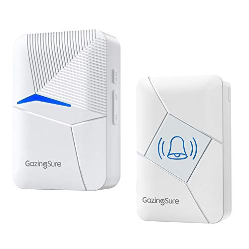 GazingSure Sonnette sans Fil - Kit de Carillon de Sonnette de Porte électrique sans Fil avec...