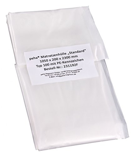 haggiy® Matratzenhülle/Schutzhülle - Standard (1050x200x2300mm), geruchsneutral und reißfest