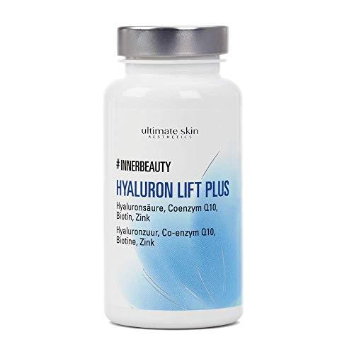 #INNERBEAUTY Hyaluron Lift Plus – Hochdosiertes Hyaluron und für strahlende Haut und weniger Falten – 90 Kapseln