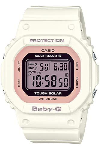 [カシオ] 腕時計 ベビージー 電波ソーラー スーパーイルミネータータイプ(高輝度なLEDライト) BGD-5000U-7DJF レディース ホワイト