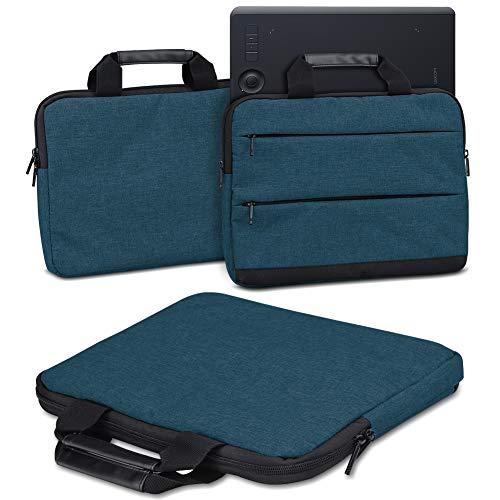 Schutzhülle für Wacom Intuos Pro M PTH-660 PTH-650 Grafiktablett Tasche Sleeve Case Stifttablett Hülle in Grau oder Blau Tragetasche mit Griffen Universal Schutztasche, Farbe:Blau (Navy Blue)