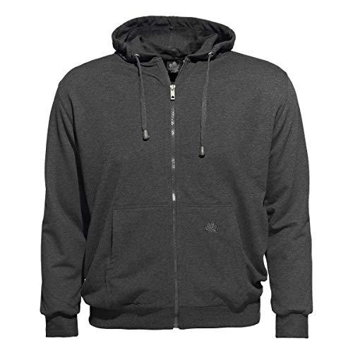 AHORN Kapuzen-Sweatjacke Übergrößen Hoody Sportswear anthrazit Melange, XL Größe:2XL