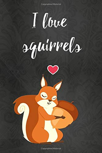 Thick Notebook: Lined Journal (120 Pages) – Squirrel gifts, stuff, items (Gag Gifts)