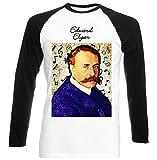 Photo de teesquare1st Men's Edward Elgar Composer T-Shirt Noir à Manches Longues Size XXXLarge par