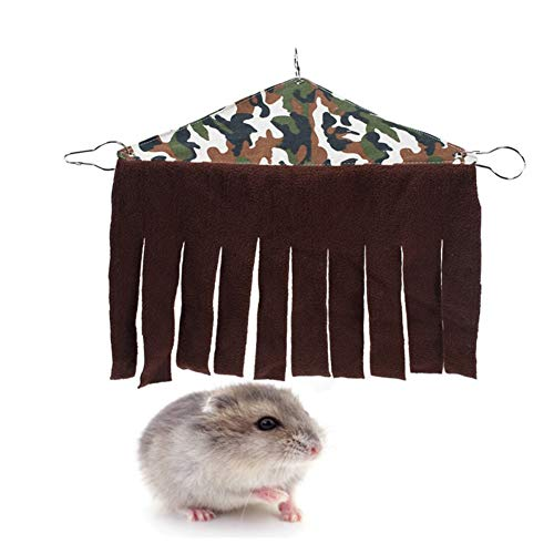 shuxuanltd Camas para Gatos Cama Conejo Guinea Cerdo Juguetes Casa de hámster Guinea Cerdo Hideaway Conejo de la Cama Jaula para Hamster, Accesorios Camouflage