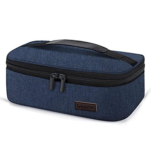 Gloppie Mini Sac Déjeuner Isotherme Petit Lunch Bag Sac à Lunch Portable pour Homme et Femme ( Indigo Bleu )