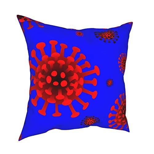 ZVEZVI Corona Virus Covid Diseño Personalizado Fundas de Cojines Accent Home Sofá Cojín Funda de Almohada Regalo Decorativo 18x18 Pulgadas