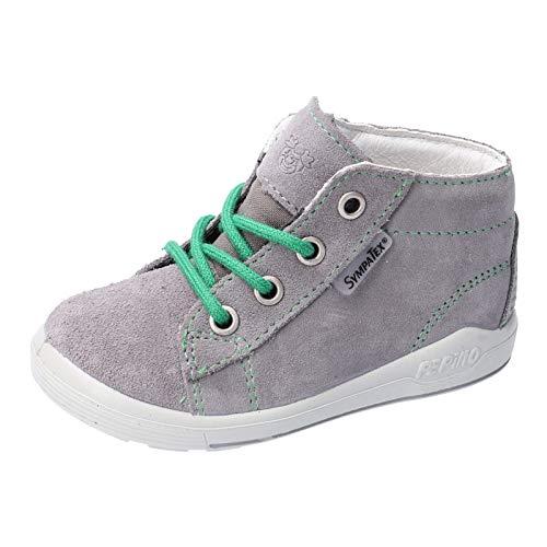 RICOSTA Kinder Stiefel ZAYNI von Pepino, Weite: Mittel (WMS),wasserfest, detailreich Boots schnürstiefel Leder,Graphit/grün,22 EU / 5.5 Child UK