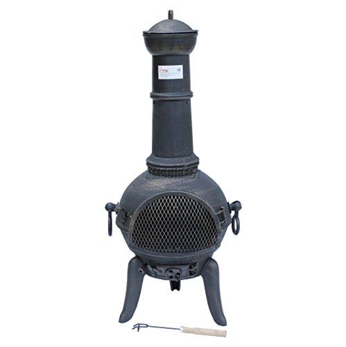 BIRCHTREE Cast Iron Steel Chimenea Chiminea Chimnea Patio Heater Fire Pit Gold Antique Garden Outdoor New