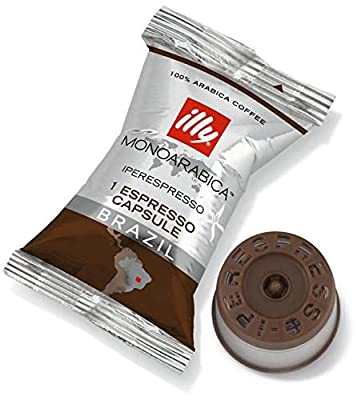 Illy IperEspresso Brazil Coffee Capsules Individually Wrapped (Pack of 100)