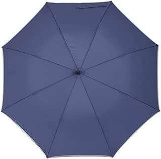 Men's Umbrella Long Handle Large Personality Corporate Umbrella Solid Color Huhero (Color : Blue)