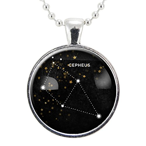 Cepheus Star Constellation Necklace, Science Jewelry, Homemade Astrology Pendant Necklace
