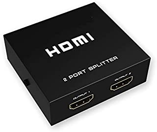 HDMI Splitter 1 in 2 Out - DCSEC 4K HDMI Ver1.4 HDCP, HDMI Splitter Amplifier Distributor Supports 3D 4K@30Hz Full HD1080P...