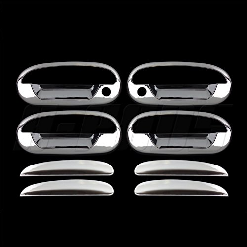 A-PADS For Ford Expedition 97-02, F-150 Heritage 2004, F-150 97-03 Chrome (4 Doors) handles covers w/psg keyhole w/key pad
