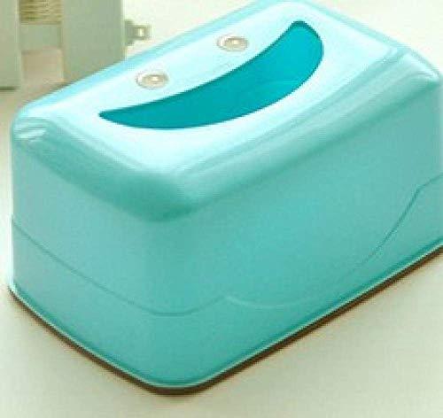 HYY-YY Caja de pañuelos de plástico para papel higiénico, caja de almacenamiento para pañuelos de papel higiénico, caja de pañuelos grande, caja de pañuelos más amplia, color azul