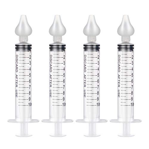 Lipeed Nasensauger, Nasenspüler mit Spritze, Nasendusche Set Nasenreiniger für Neugeborene, Nasenspülsalz Nasenreiniger mit Silikon-Nasensaugspitze, Nasenspülung bei Erkältung und Allergie