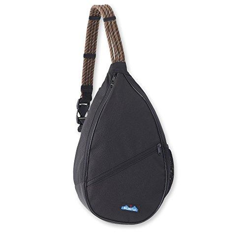 KAVU Paxton Pack Rope Sling Crossbody Bag-Jet Black