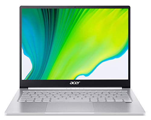 Acer Swift 3 (SF313-52-58DH) 33,8 cm (13,5 Zoll QHD IPS) Ultrathin Laptop (Intel Core i5-1035G4, 8 GB RAM, 512 GB PCIe SSD, Intel Iris Plus Graphics, Win 10 Home) silber