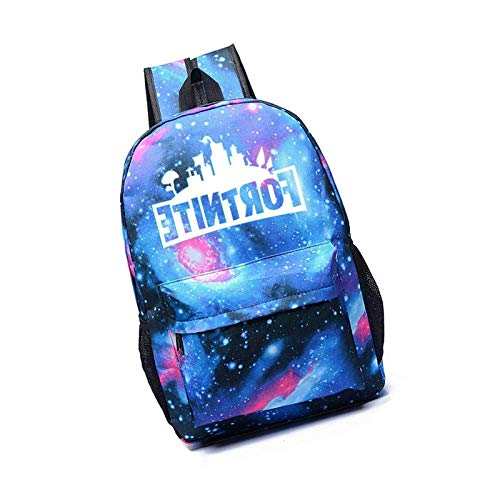 Luminous School Backpack Ideal Boys Girls Versatile Men Women Shoulder Blue Starry Blue